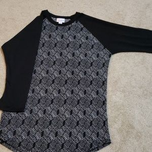 LuLaRoe Tops - Small black and white Randy